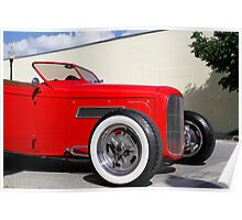 Red Roadster Poster