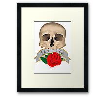 Love Dies Framed Print
