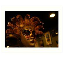 Jesters Mask Art Print