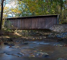 Glen Hope Covered Bridge (1889) - Looking East (Down Creek) by alseymour