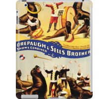 Poster 1890s Marvelously trained sea lions & seals poster for Forepaugh & Sells Brothers 1899 iPad Case/Skin