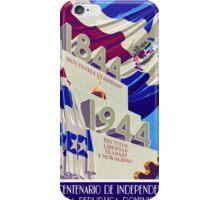 Dominican Republic Centennial Vintage Poster iPhone Case/Skin