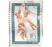 The Soviet Union 1970 CPA 3871 stamp Football Mexico City Mexico cancelled USSR Poster