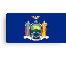 State Flags of the United States of America -  New York Canvas Print