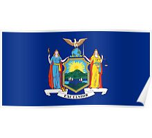 State Flags of the United States of America -  New York Poster