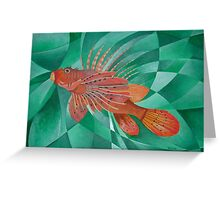 Fire Fish Greeting Card