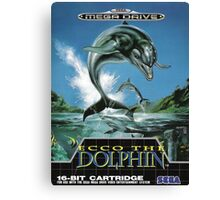 Ecco the Dolphin Mega Drive Cover Canvas Print