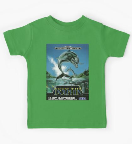 Ecco the Dolphin Mega Drive Cover Kids Tee