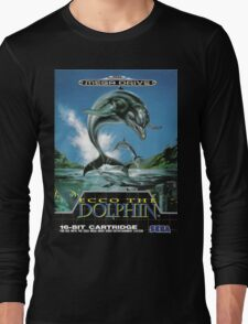 Ecco the Dolphin Mega Drive Cover Long Sleeve T-Shirt