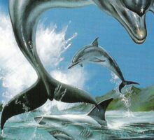Ecco the Dolphin Mega Drive Cover Sticker