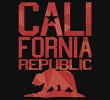 California Republic Bear (spicy red version) Baby Tee