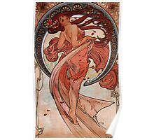 Poster 1890s Alfons Mucha 1898 Dance Poster