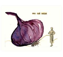 One Red Onion Art Print
