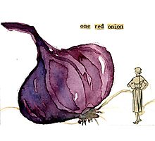 One Red Onion Photographic Print