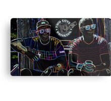 Two Guys in Crazy Neon Metal Print