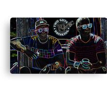 Two Guys in Crazy Neon Canvas Print