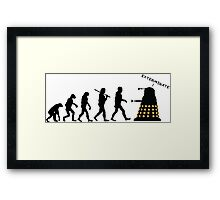"Doctor Who Evolution - Dalek ""EXTERMINATE"" Framed Print"
