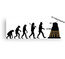 "Doctor Who Evolution - Dalek ""EXTERMINATE"" Canvas Print"