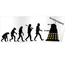 "Doctor Who Evolution - Dalek ""EXTERMINATE"" Poster"
