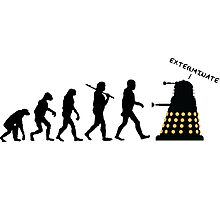 "Doctor Who Evolution - Dalek ""EXTERMINATE"" Photographic Print"