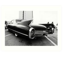 Fins, Chrome and Suede Black Paint Art Print