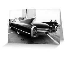 Fins, Chrome and Suede Black Paint Greeting Card