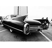 Fins, Chrome and Suede Black Paint Photographic Print