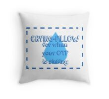 OTP-Crying Pillow Throw Pillow