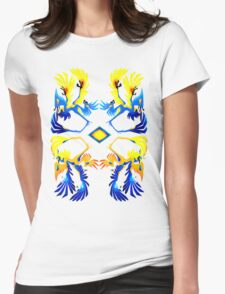Microraptor Patterns Womens Fitted T-Shirt
