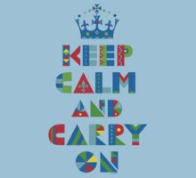 Keep Calm Carry On - on lights Kids Clothes