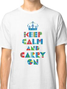 Keep Calm Carry On - on lights Classic T-Shirt