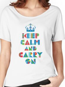 Keep Calm Carry On - on lights Women's Relaxed Fit T-Shirt