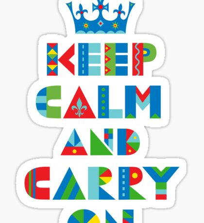 Keep Calm Carry On - on lights Sticker