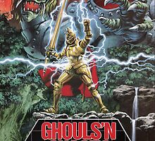 Ghouls n' Ghosts Mega Drive Cover by TWMTees