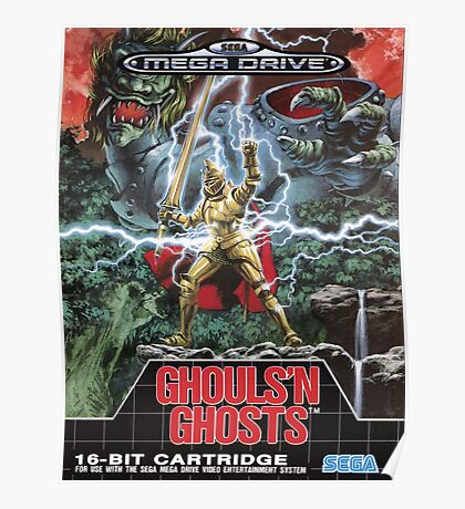 Ghouls n' Ghosts Mega Drive Cover Poster