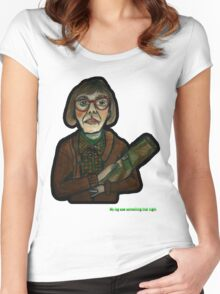 MY LOG SAW SOMETHING THAT NIGHT - from 'The Peaks' range Women's Fitted Scoop T-Shirt