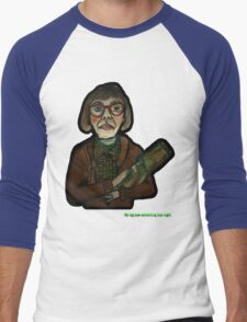 MY LOG SAW SOMETHING THAT NIGHT - from 'The Peaks' range Men's Baseball ¾ T-Shirt