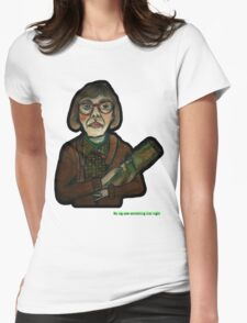 MY LOG SAW SOMETHING THAT NIGHT - from 'The Peaks' range Womens Fitted T-Shirt