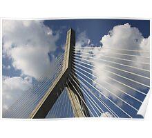 Detail of Leonard P. Zakim Bunker Hill Memorial Bridge, Boston Poster