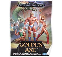 Golden Axe Mega Drive Cover Poster