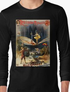 Poster 1890s Rossow Midgets Mlle Chalet the bounding queen performance poster 1897 Long Sleeve T-Shirt