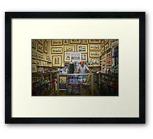 The art-shop in Valletta,Malta. Framed Print
