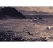 Offshore Rocks in the Pacific - ST Photographic Print