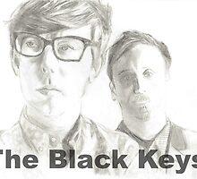 The Black Keys pencil drawing by ZoeV