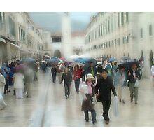 Dubrovnik Rain Photographic Print