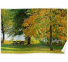 Fall at Baltz Lake Poster