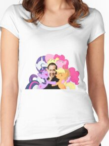 Nic and His Girls Women's Fitted Scoop T-Shirt