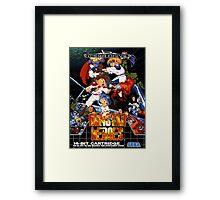 Gunstar Heroes Mega Drive Cover Framed Print