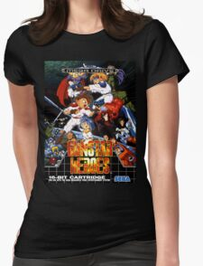 Gunstar Heroes Mega Drive Cover Womens Fitted T-Shirt