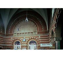 Brickwork Railway Station Copenhagen Denmark 19840625 0001  Ektachrome Elite 400 Photographic Print